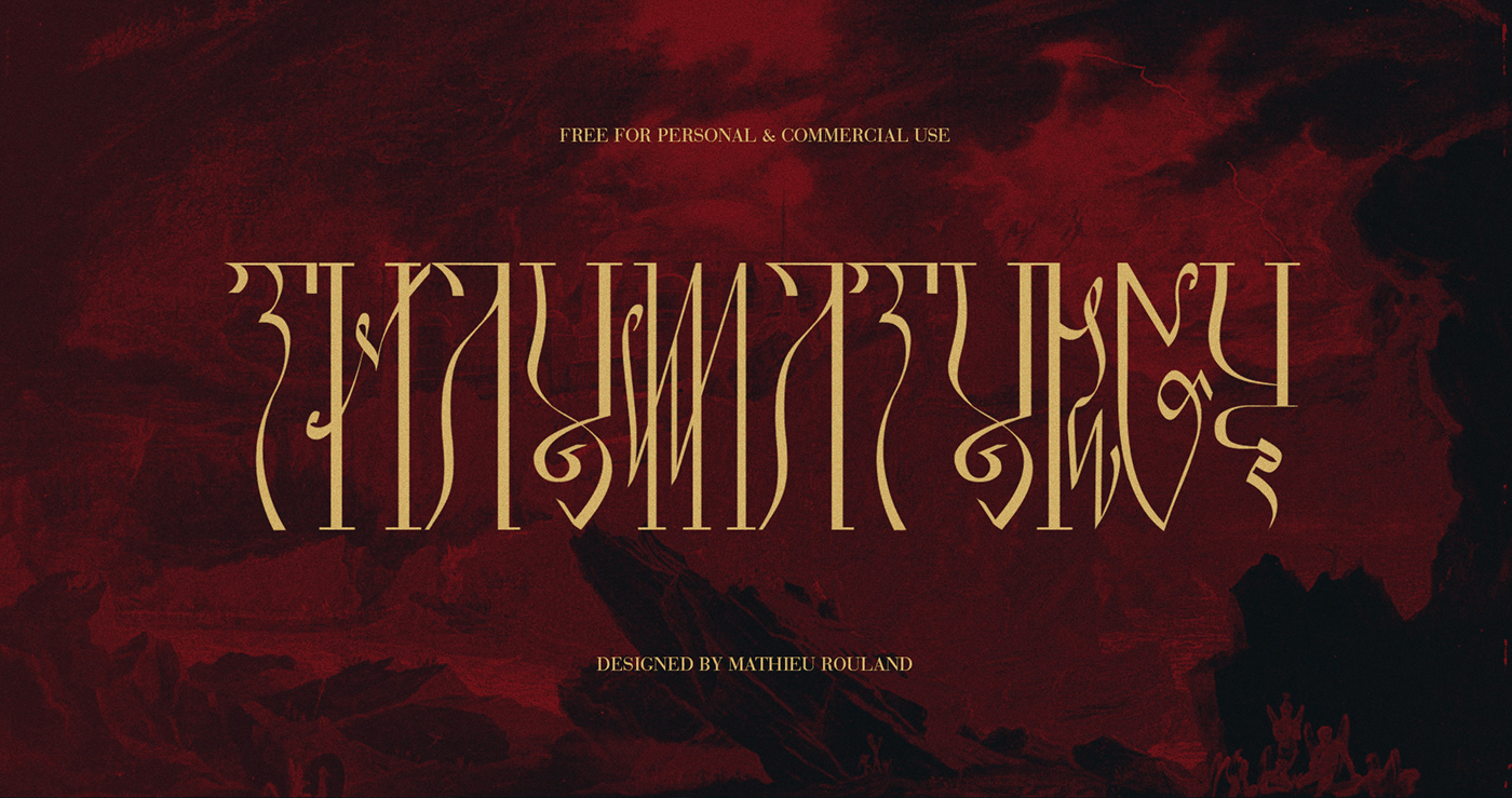 eveil font free Free font metal occult thaumaturgy type Typographie typography
