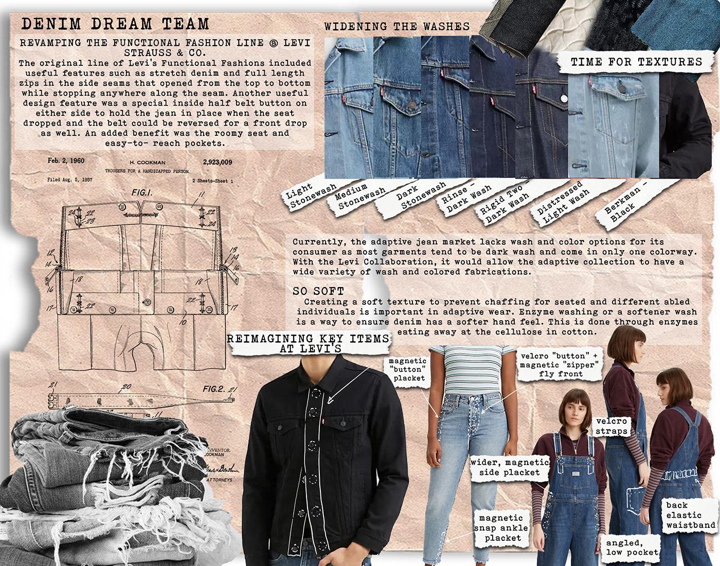 adaptivewear cad concept development Fashion  fashion design fashion illustration market research print design  technical flats womenswear