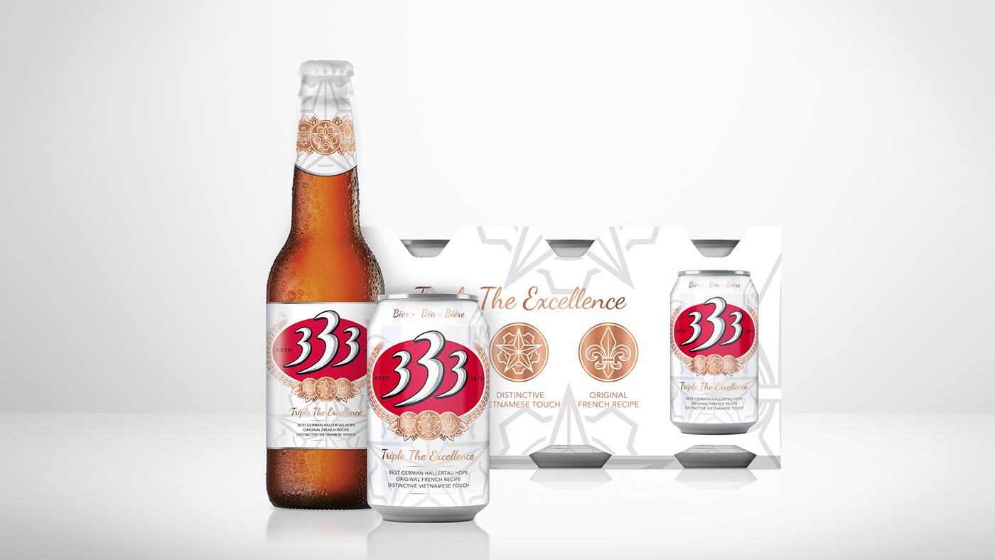 vietnam beer premium Rebrand Packaging design branding  strategy