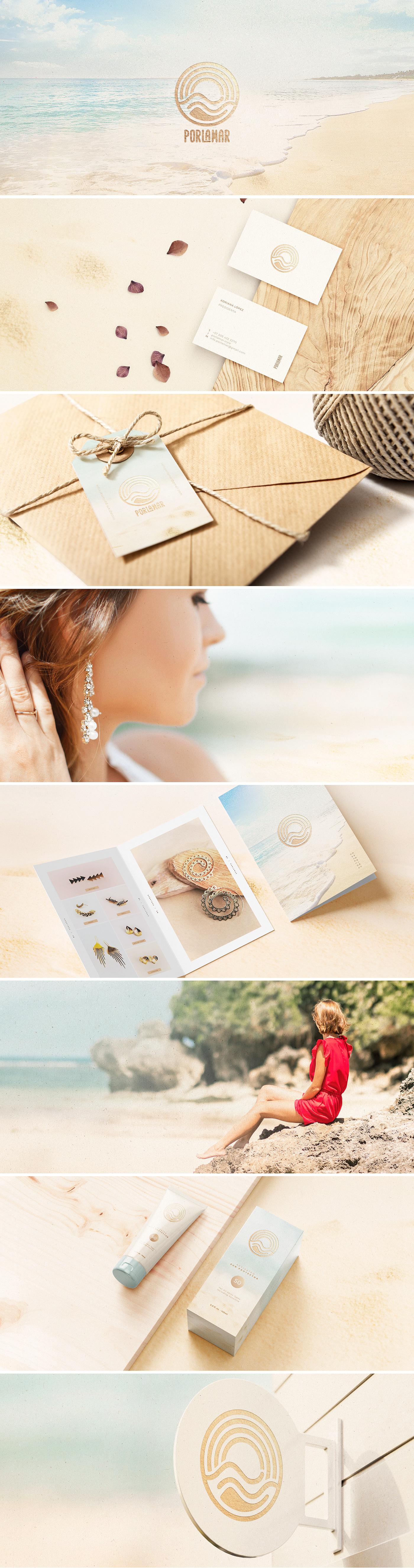 Earring moda beach logo Cosmetic beauty