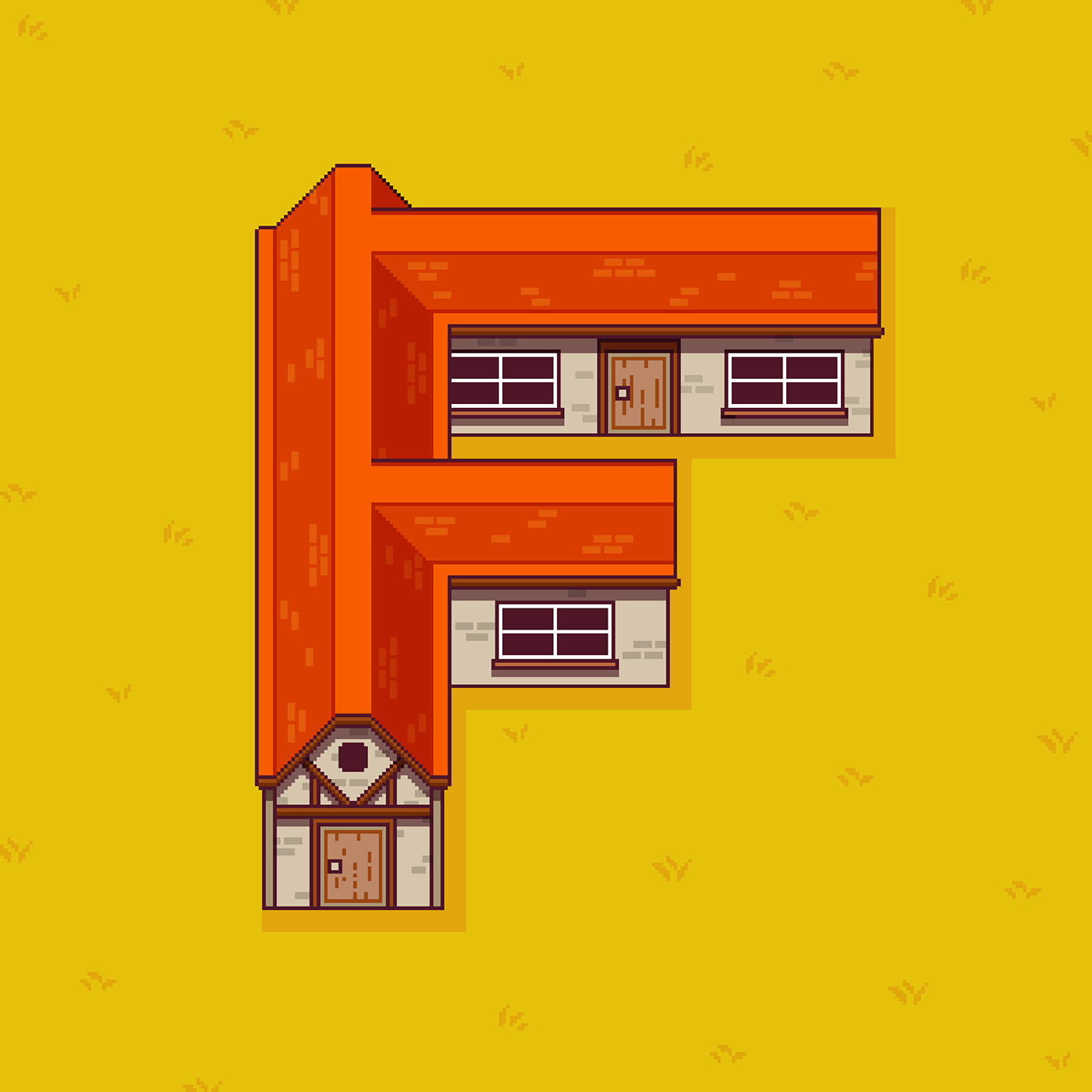 36 days type Pixel art 8-bit alphabet yatish asthana India animation  Game Art arcade video game