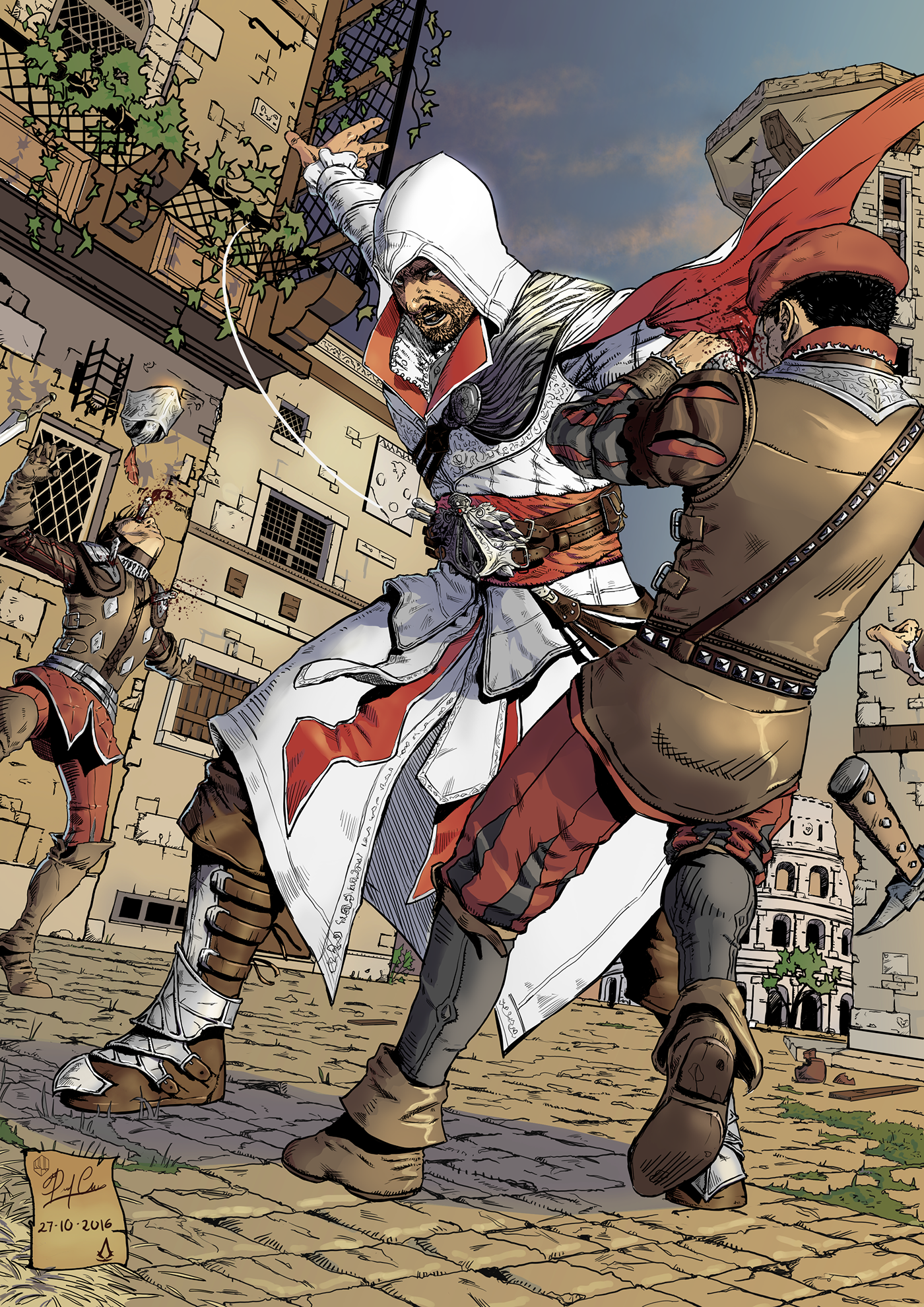 Ezio Auditore Fanart On Behance
