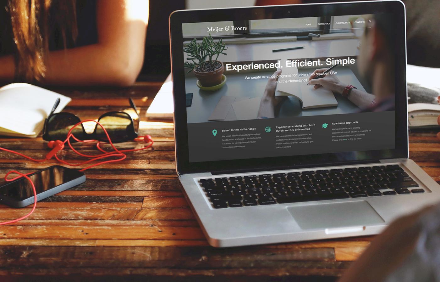 Education consultancy Business Website official website ux UI erasmus