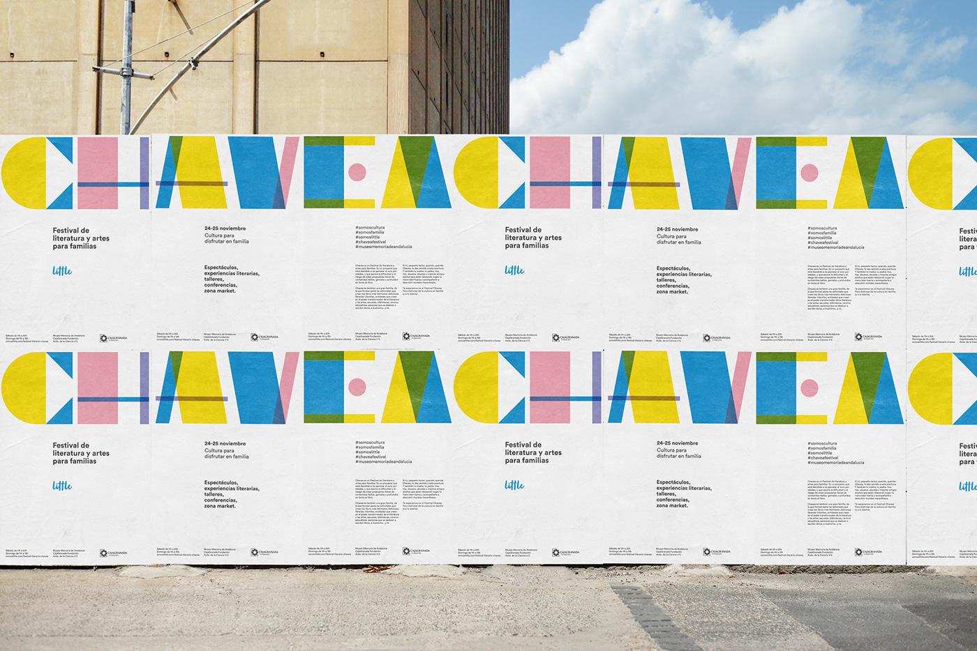 literature granada Chavea identity brand festival children typography   Plácida