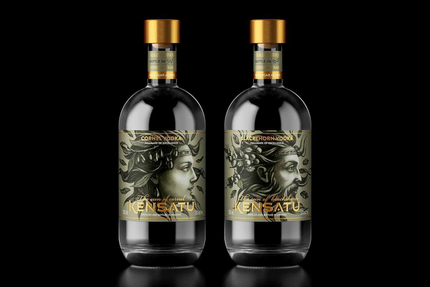 spirit alcohol drink beverage fruits Vodka handdrawing Drawing  illustrations design
