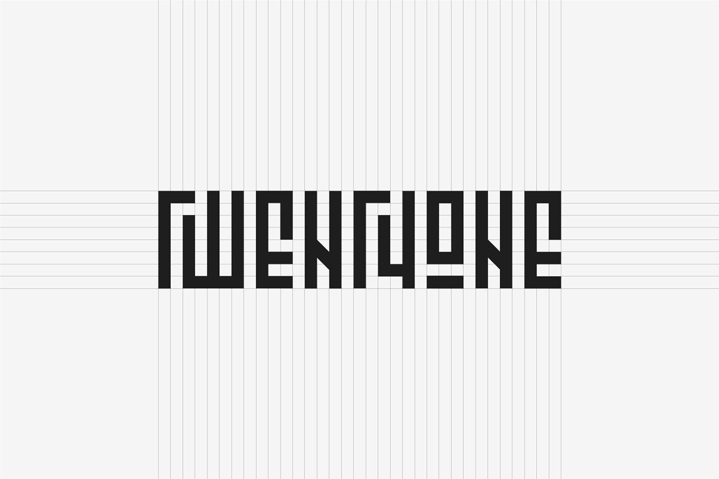 escape free Typeface font geometric grid Headline simple minimal