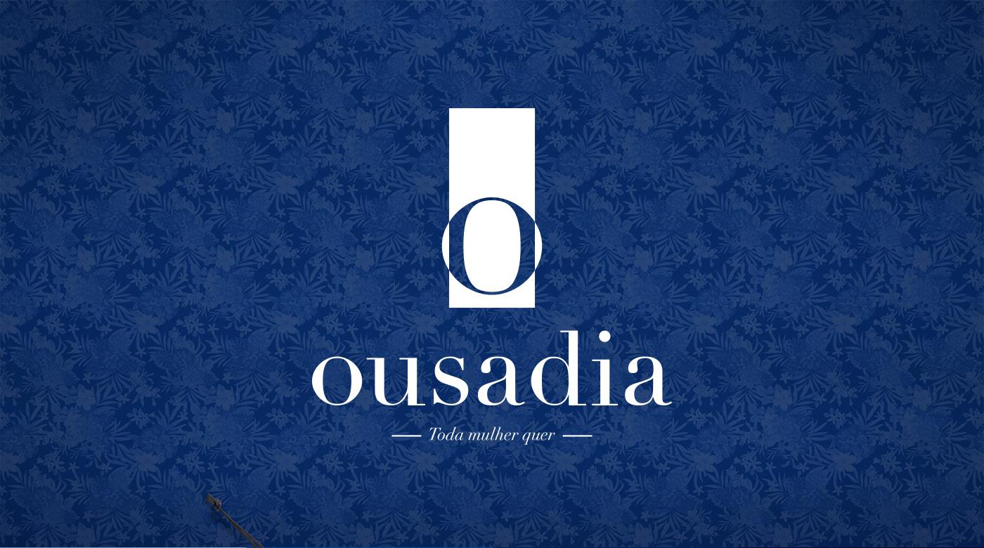 brand marca identidade visual visual identity moda lingerie Logotipo papelaria logo Stationery shopping bag sacola shop new blue