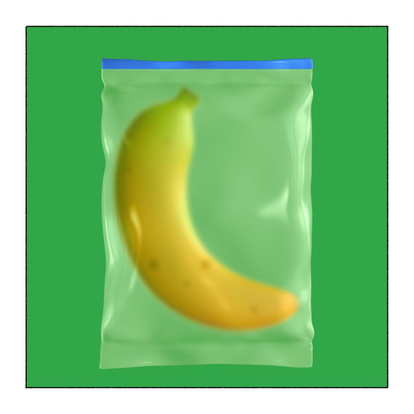 Image may contain: fruit, food and banana