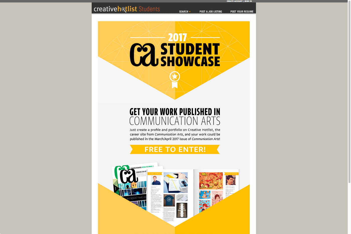 Communication Arts Magazine Student Showcase Interactive Annual 22 March/April 2016