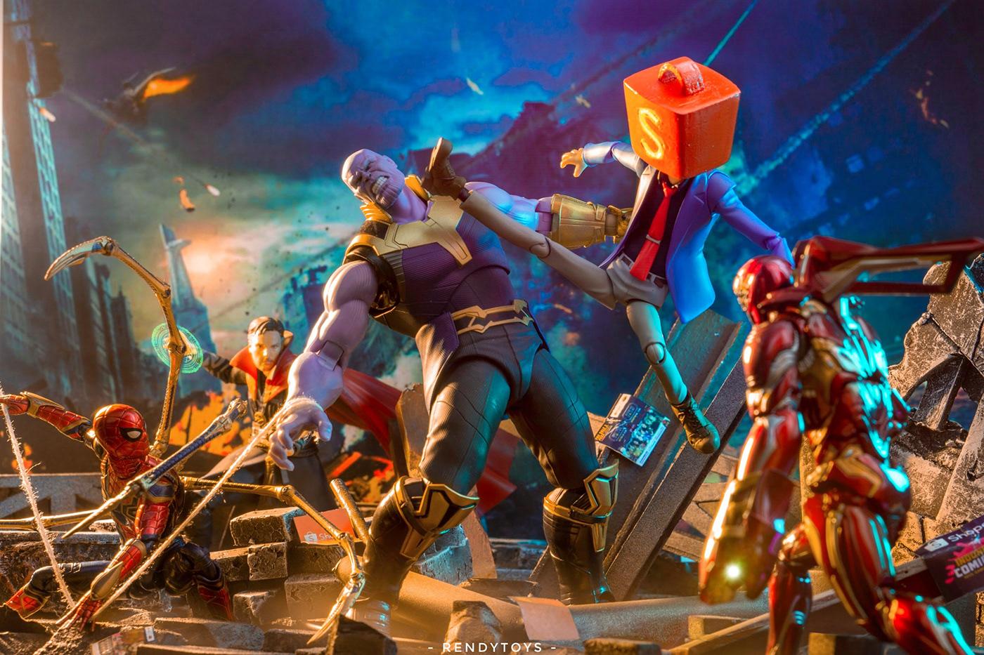 Action Figure Comic Con indonesia invitation design Shopee star wars toy design
