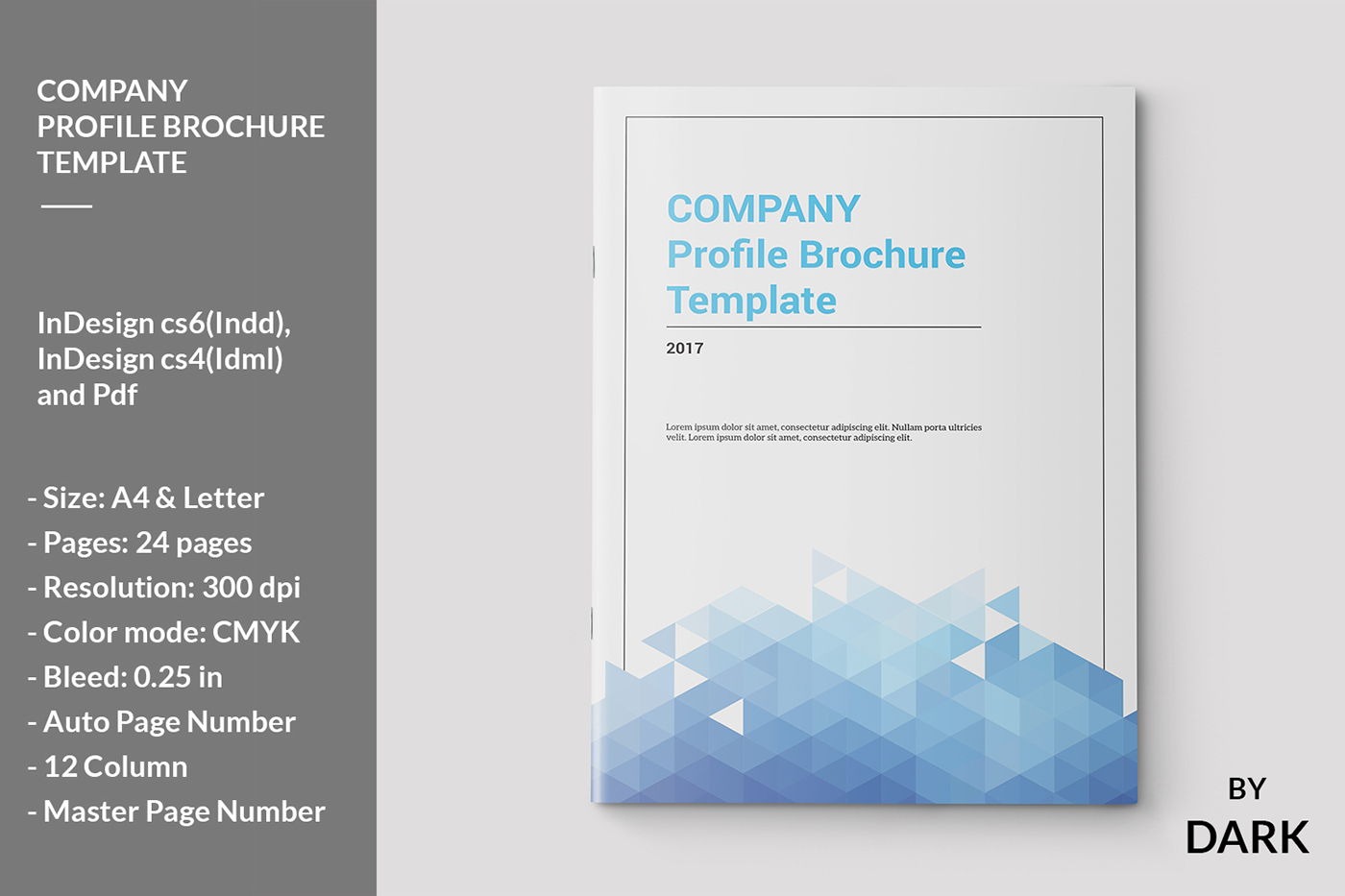 Company Profile Brochure Template On Behance - Company profile brochure template