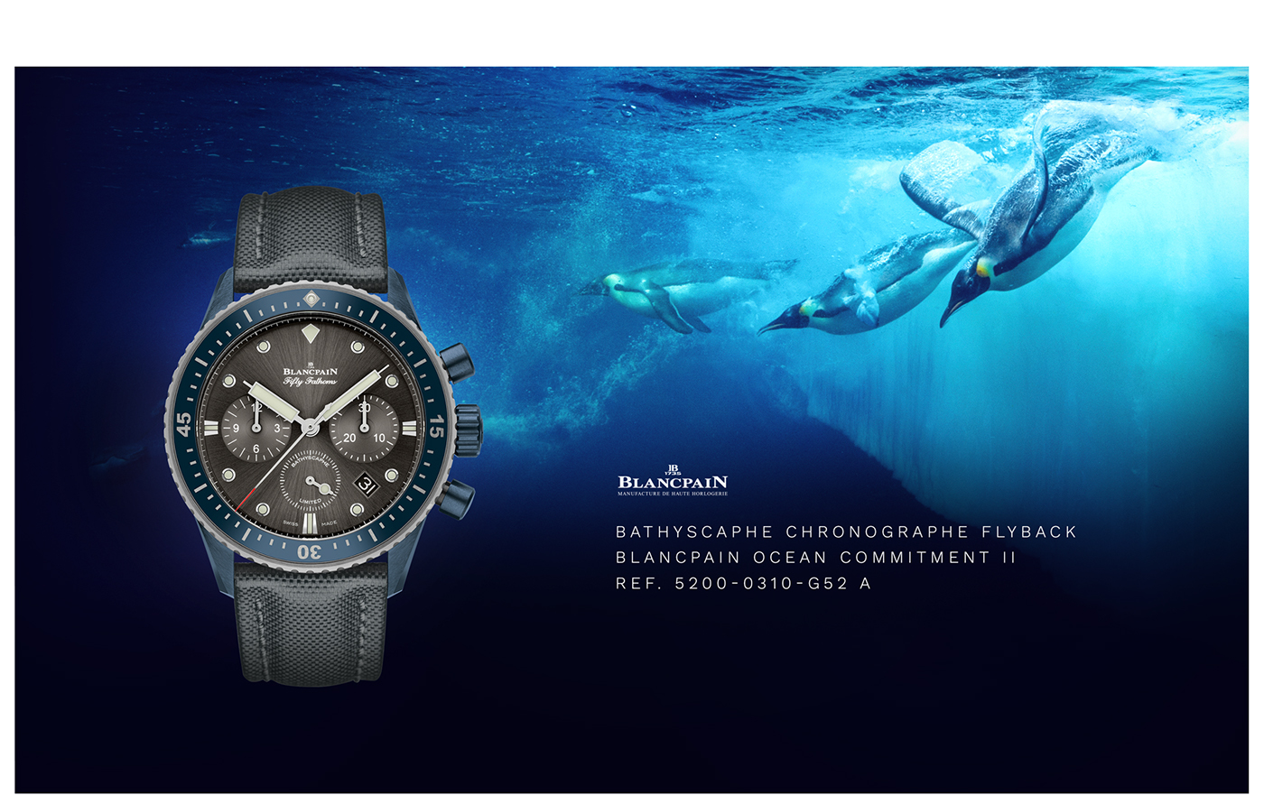 Website Ocean blue submarine Watches luxe clean branding  Picture