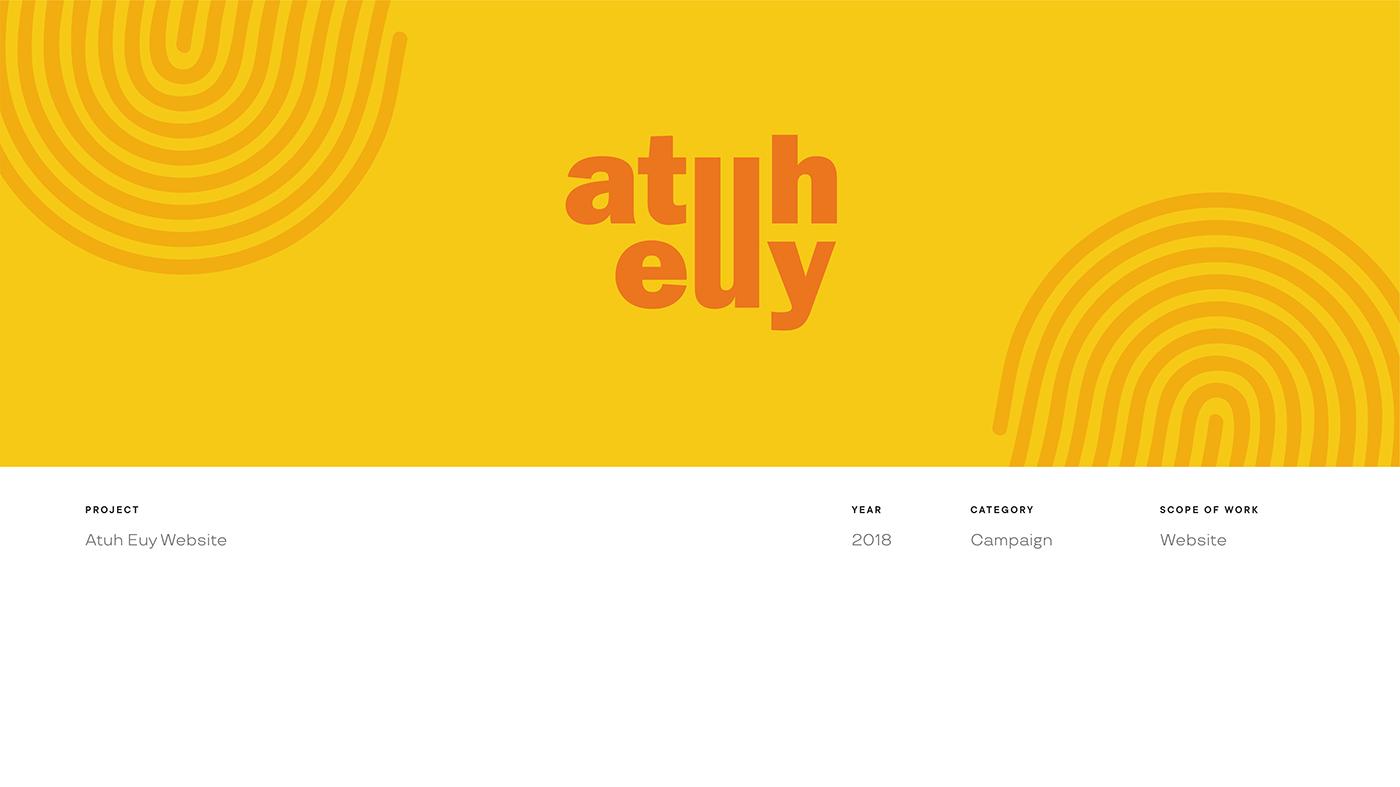 bandung KPU Manual Book UI/UX user interface Web Design  Website