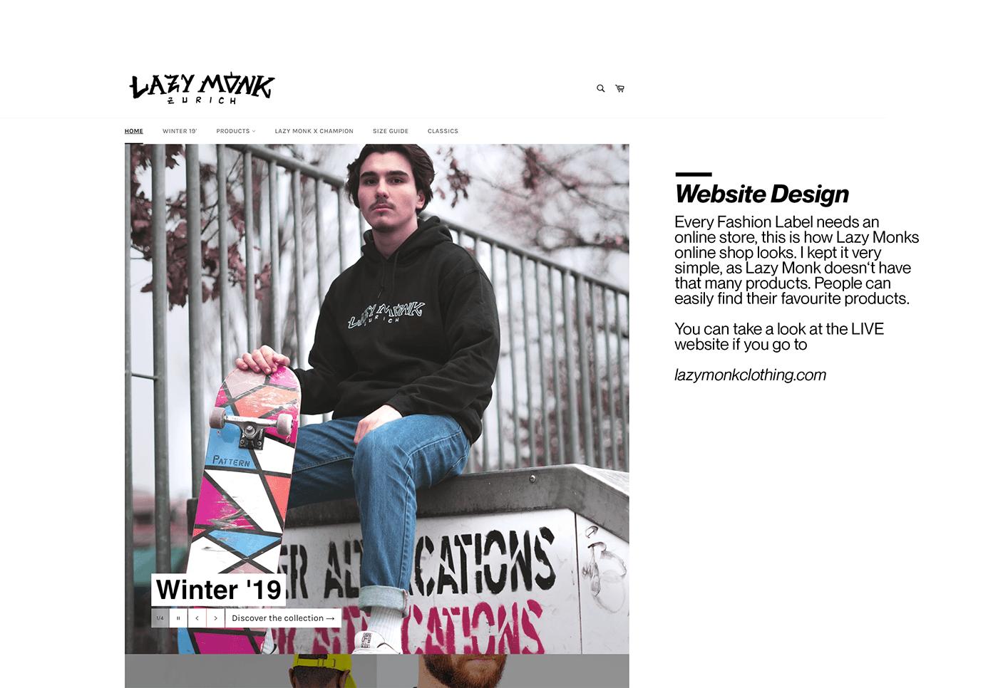 Fashion  skater logo Corporate Identity Website Design Advertising  Mode Clothing Zurich grafik
