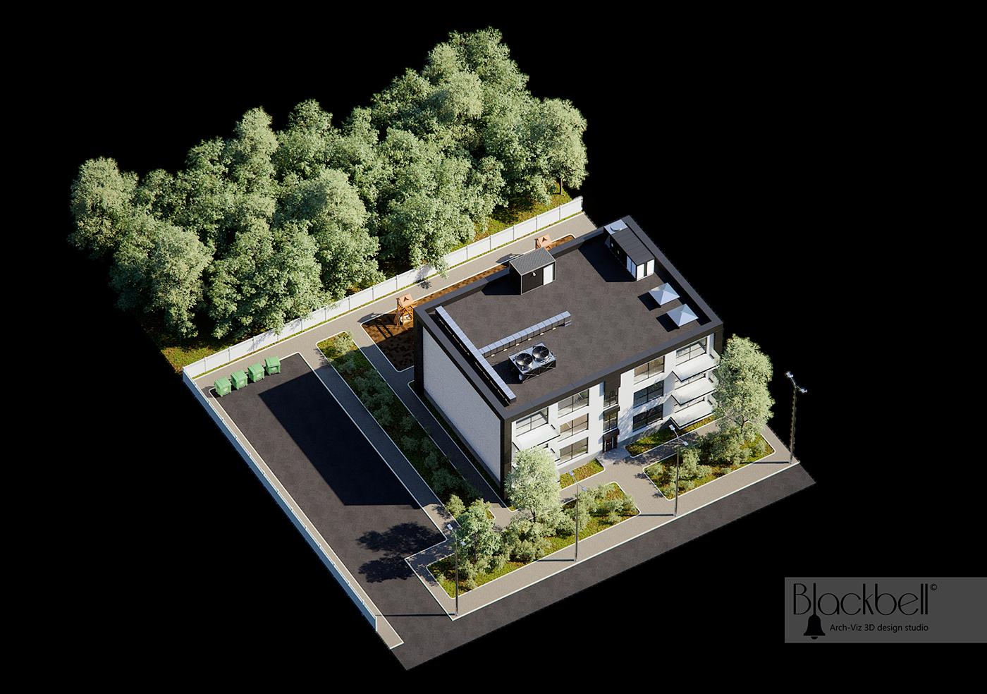 exterior design 3dsmax corona-renderer modular tileble