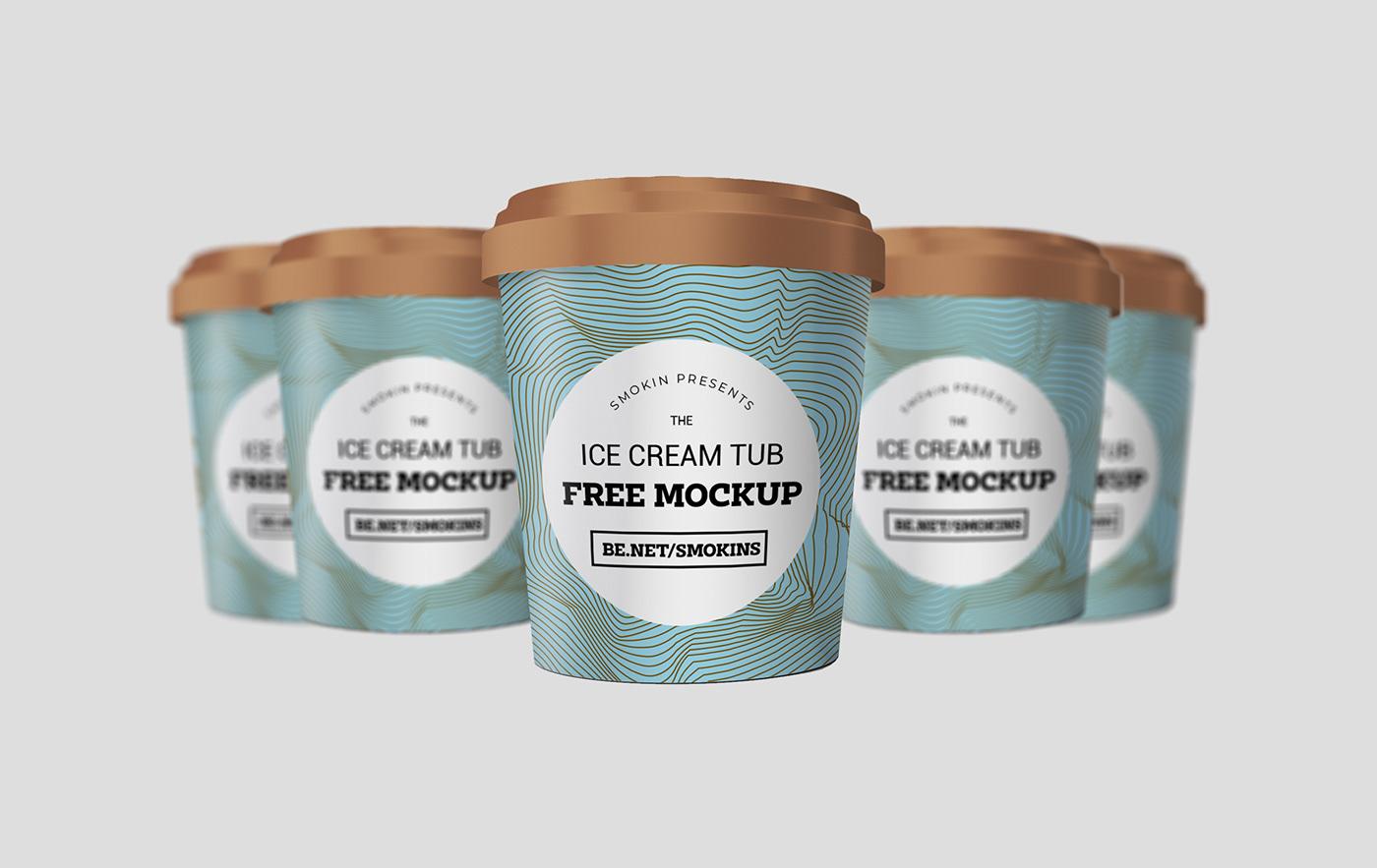 brand identity branding  designer for hire free mockup  Graphic Designer ice cream ice cream branding ice cream mockup ice cream shop Logo Design