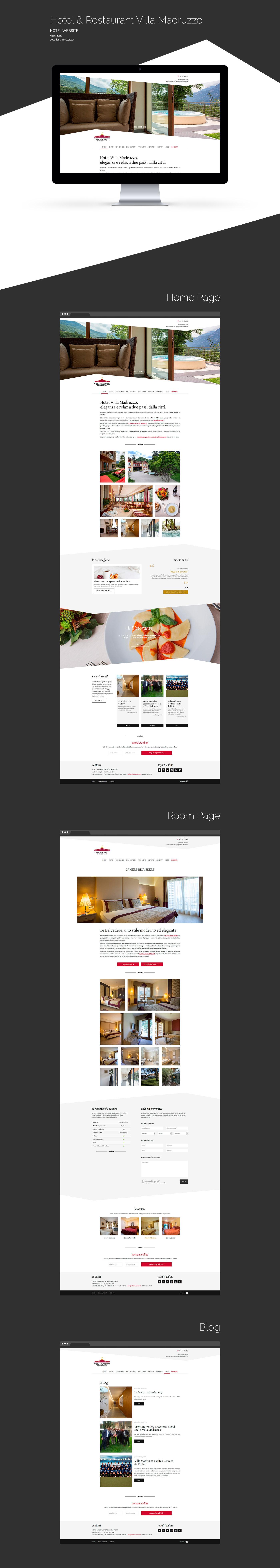 Webdesign Website Web wordpress code hotel restaurant Italy Travel tourism