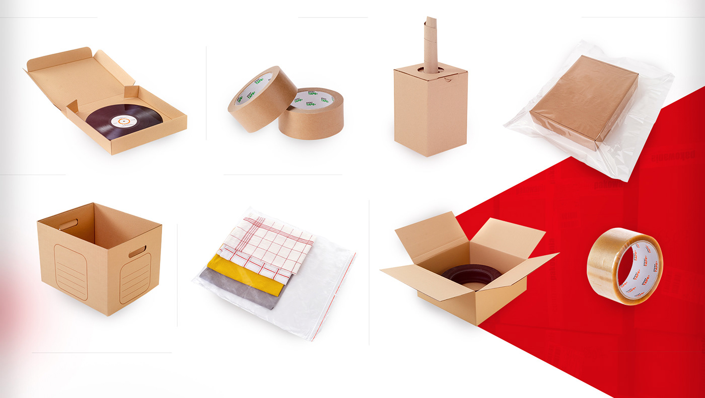 cartons, staffing, tape