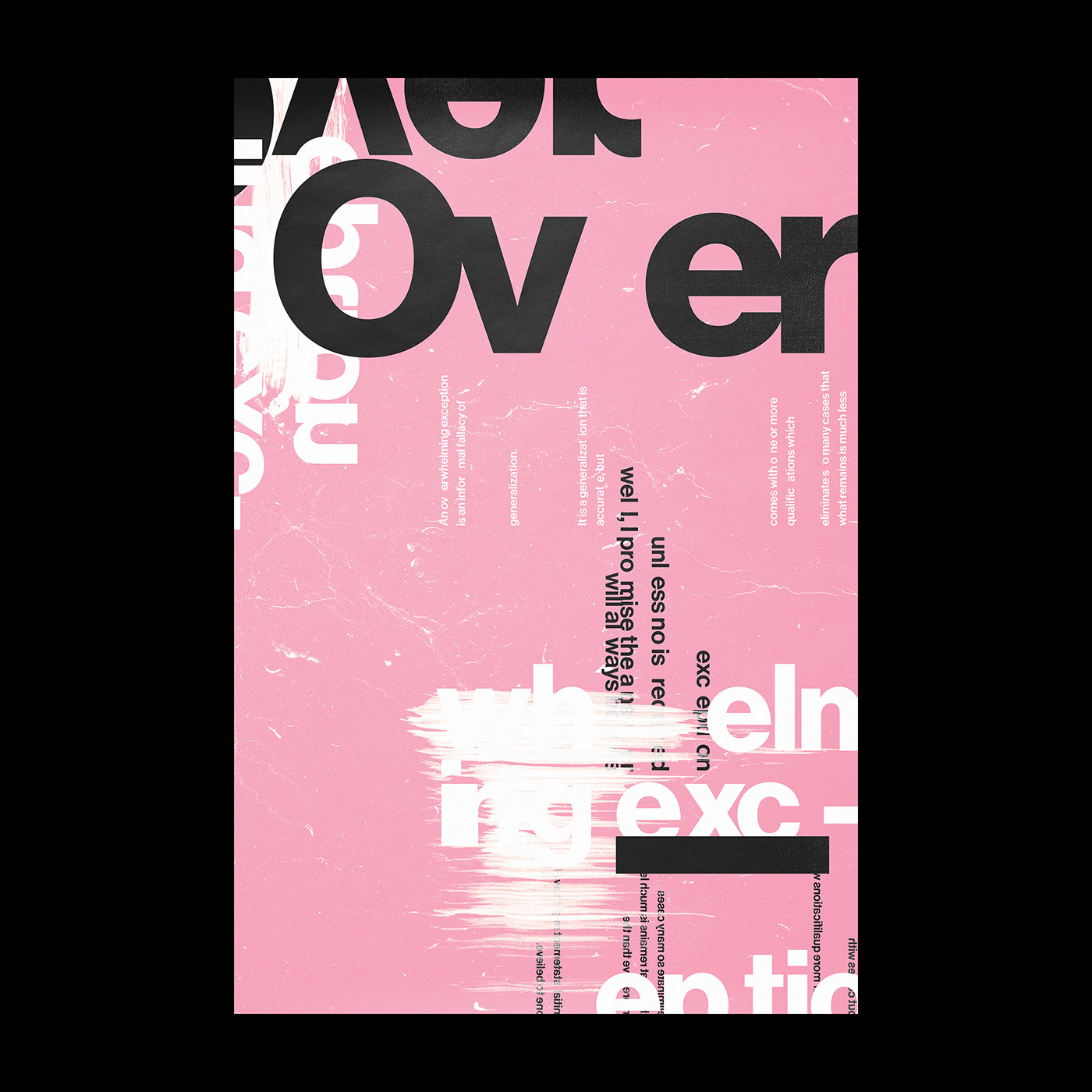 Overwhelming Exception poster by Xtian Miller