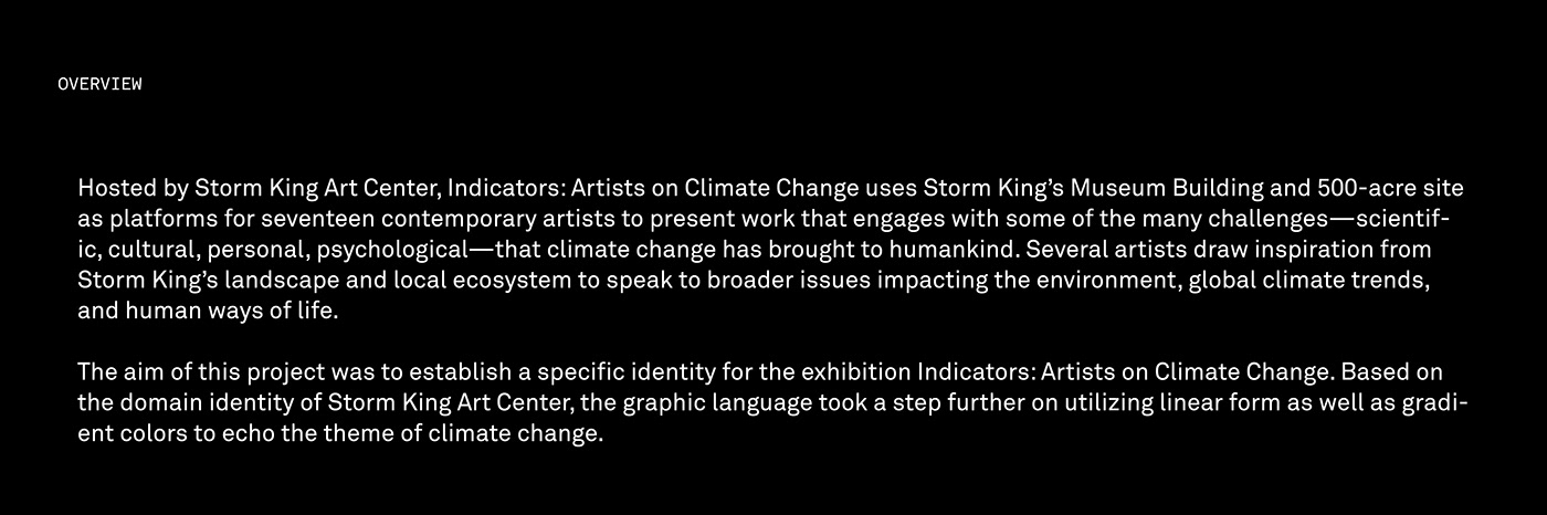 typography   graphic design  Exhibition  branding  art direction  storm king Identity System editorial color gradient motion graphic