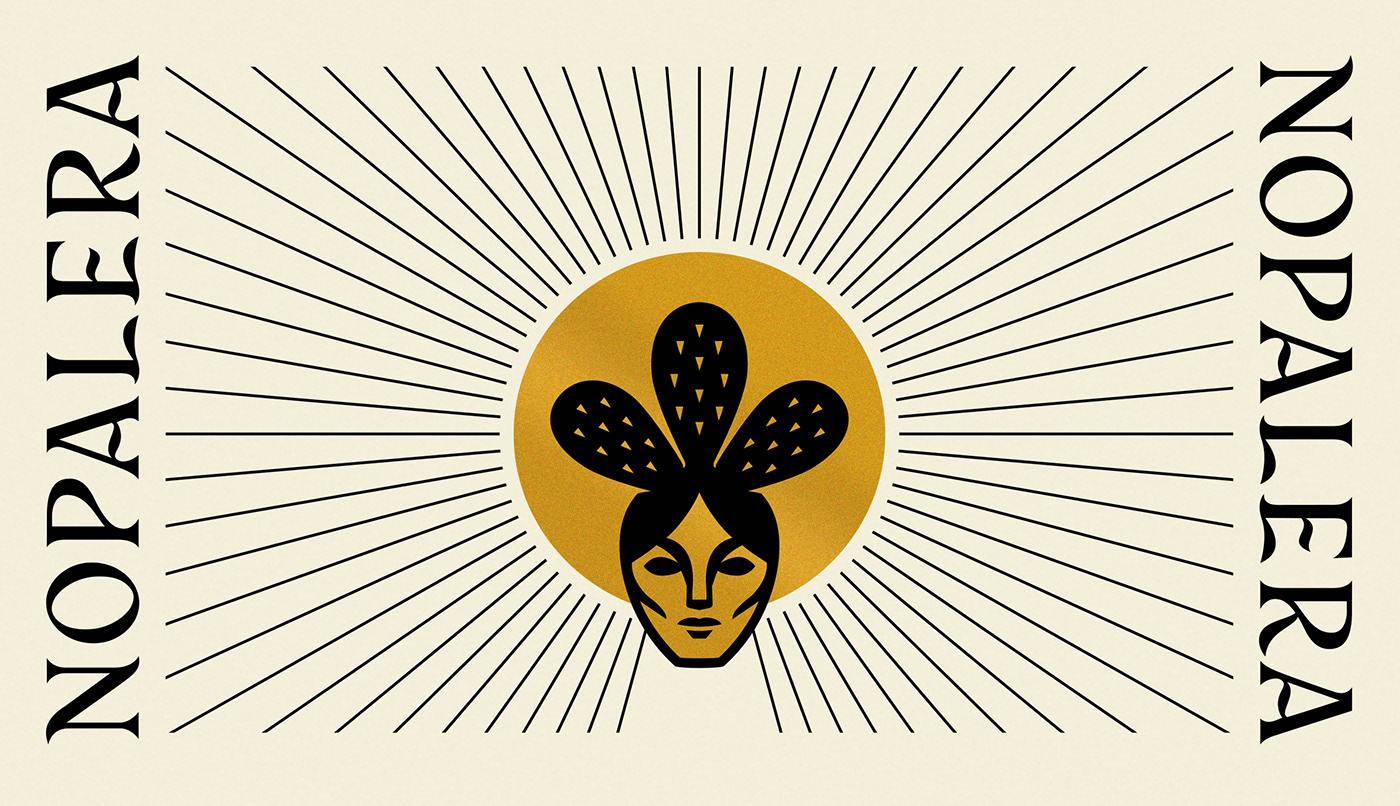 Branding and logo design for Nopalera  designed by Abby Haddican Studio.