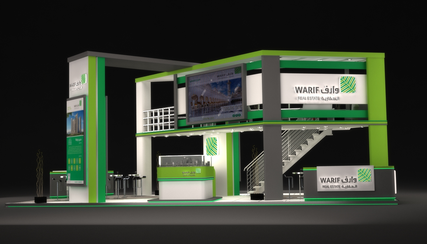 Property Exhibition Booth Design : Warif real estate exhibition booth in ksa on behance