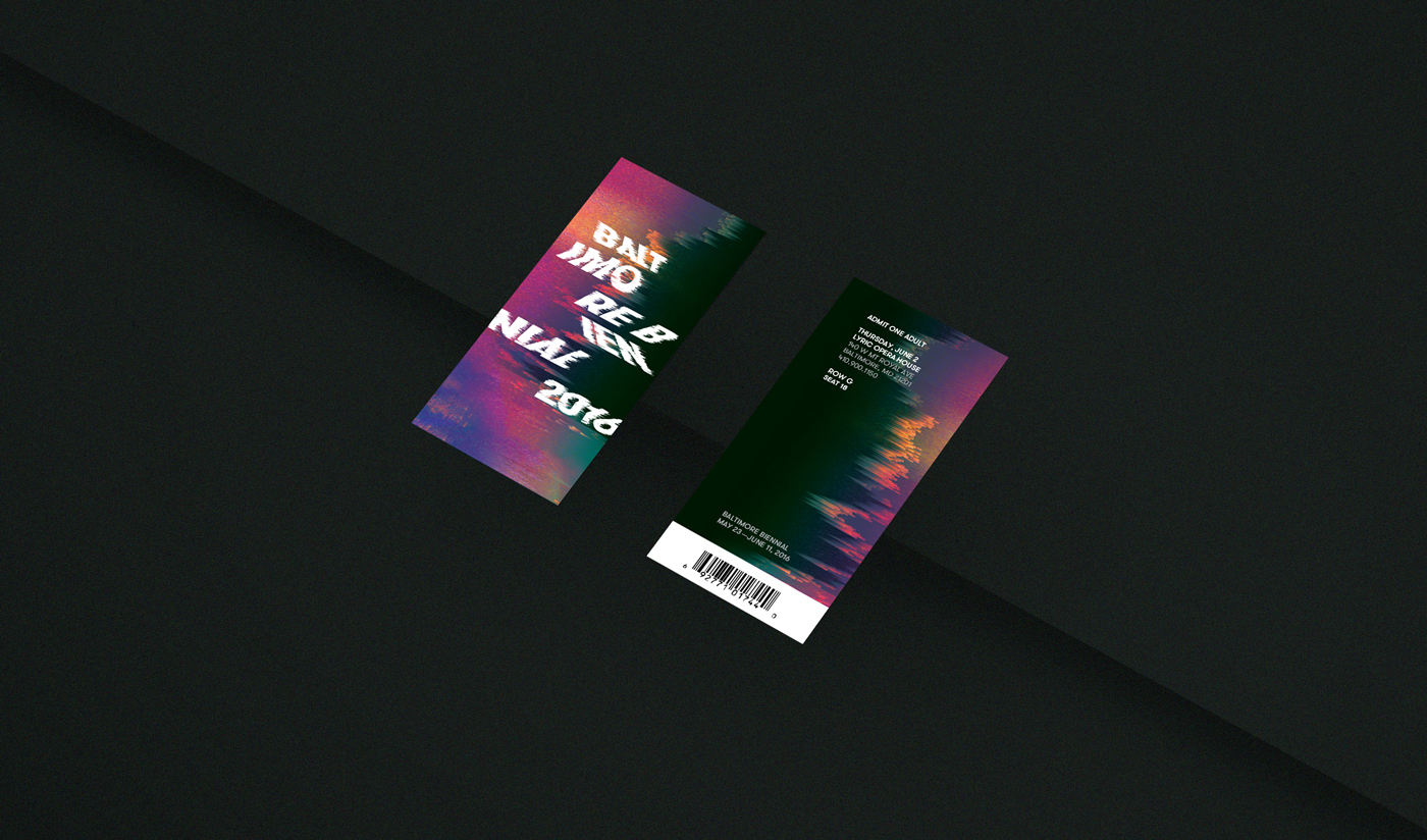 Baltimore biennial festival orchestra Classical Event bright pixellated musicians concert Website Website Design tickets design