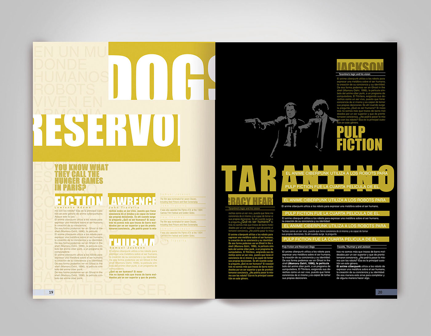 Dise o editorial experimental dobles paginas on behance for Diseno grafico editorial