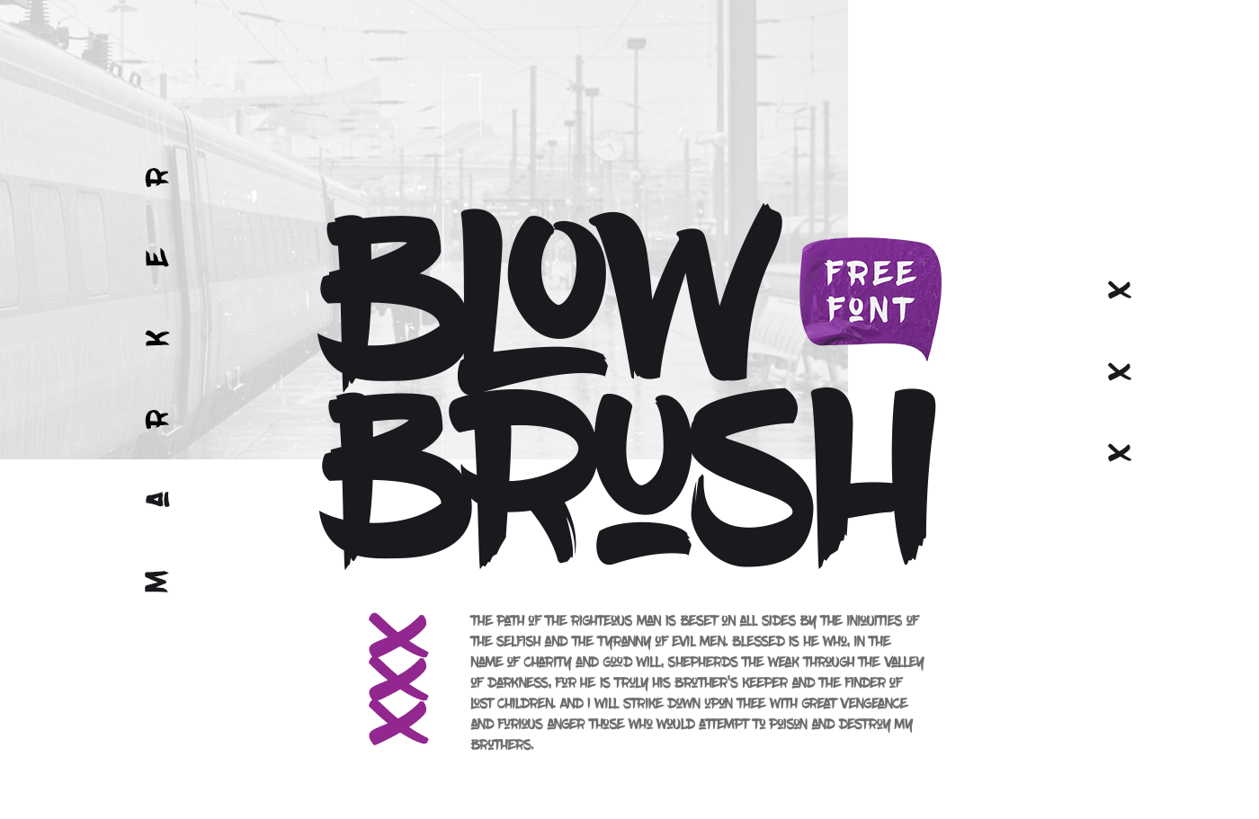 font type Marker brush text Headline dirty Urban Street hip-hop Handstyle