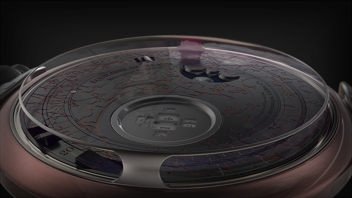 horlogerie WatchDesign animation  design Freelance luxe swiss france time 10h10