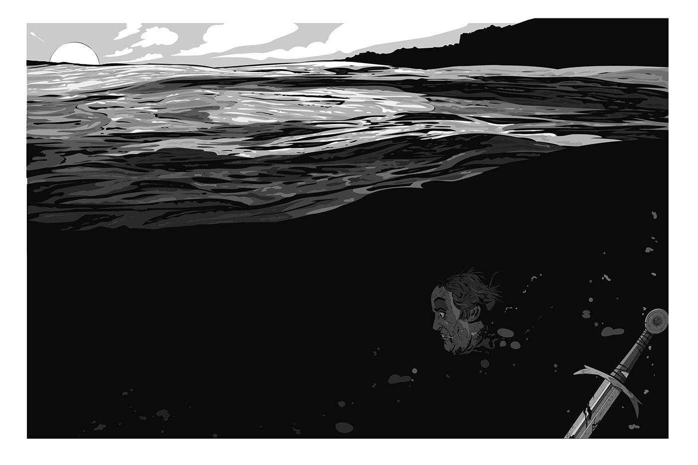 Character design  coloring Comic Book comics God ILLUSTRATION  inking Ocean