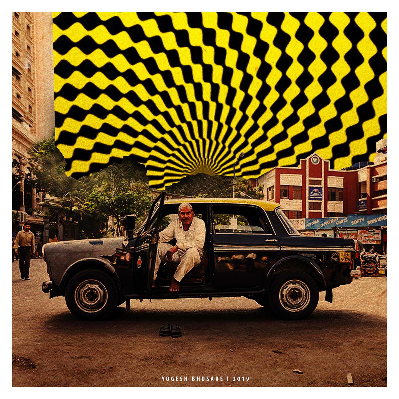 art ILLUSTRATION  design kaalipeeli taxi MUMBAI artist India