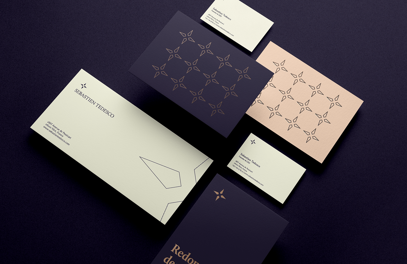 sebastien tedesco business cards envelopes flyers promotional card