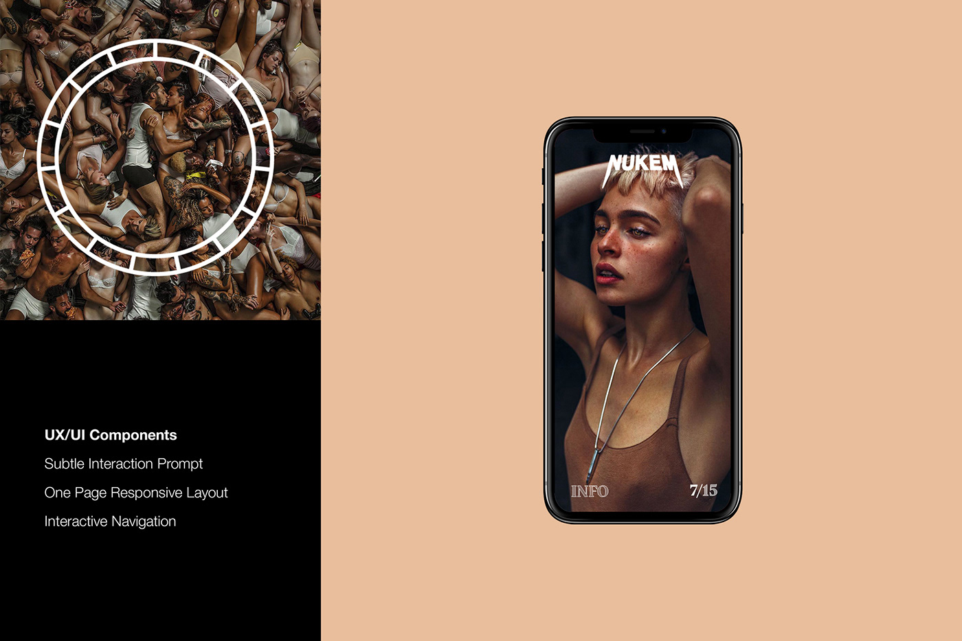 Photography  typography   modern clean simple edgy site design Haris Nukem art adobeawards