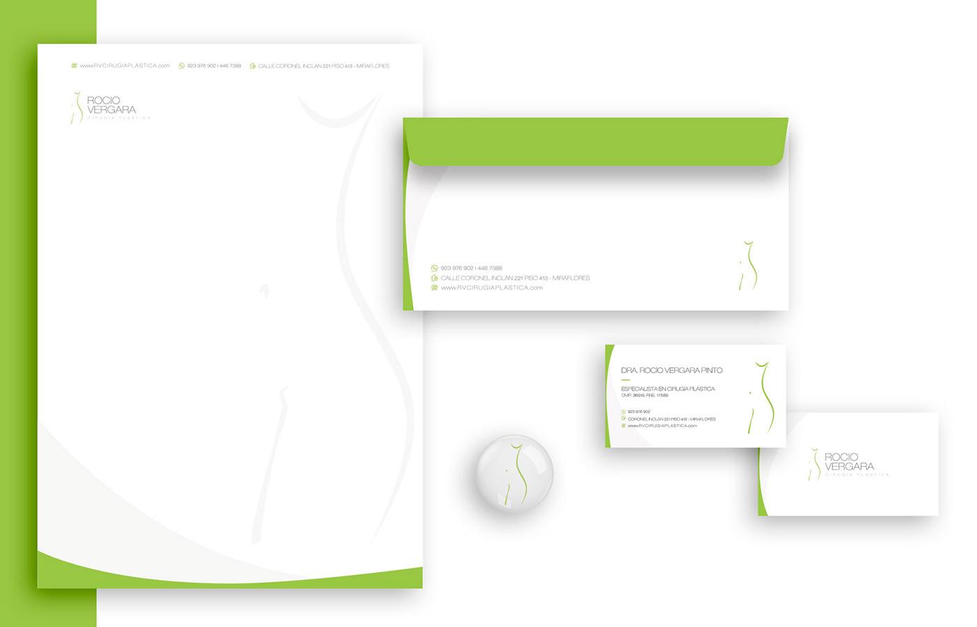 diseño de logo branding  marketing   publicidad kyriac kyriac estudio creativo doctora rocío vergara Identidad Corporativa