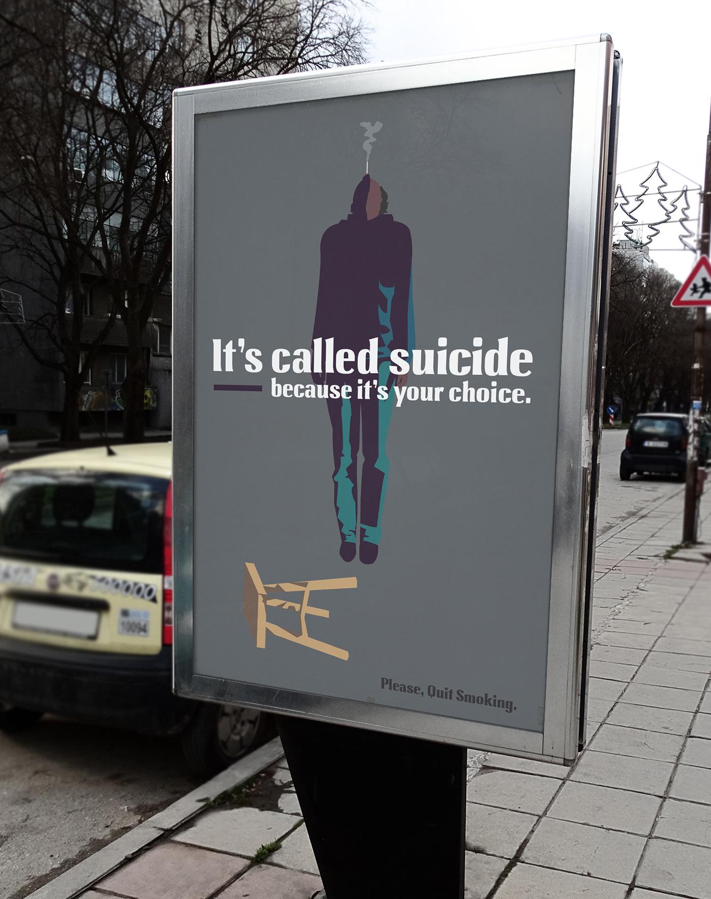 Anti-smoking poster