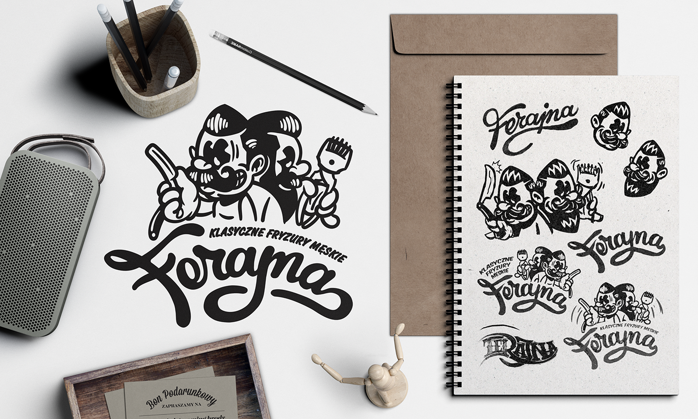 Ferajna Barber Shop Branding On Behance