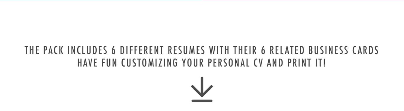 Resume CV curriculum Curriculum Vitae template CV template resume template
