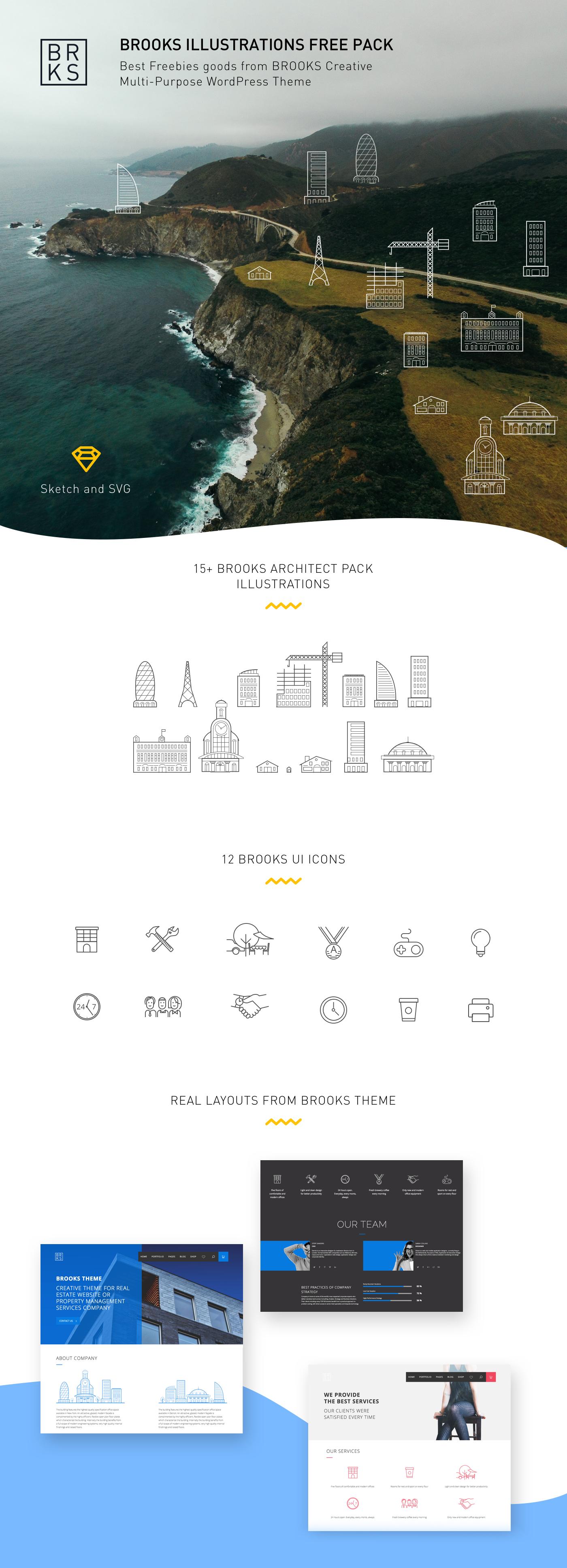 wordpress illustrations freebe sketch free ION vector flat UI Icon