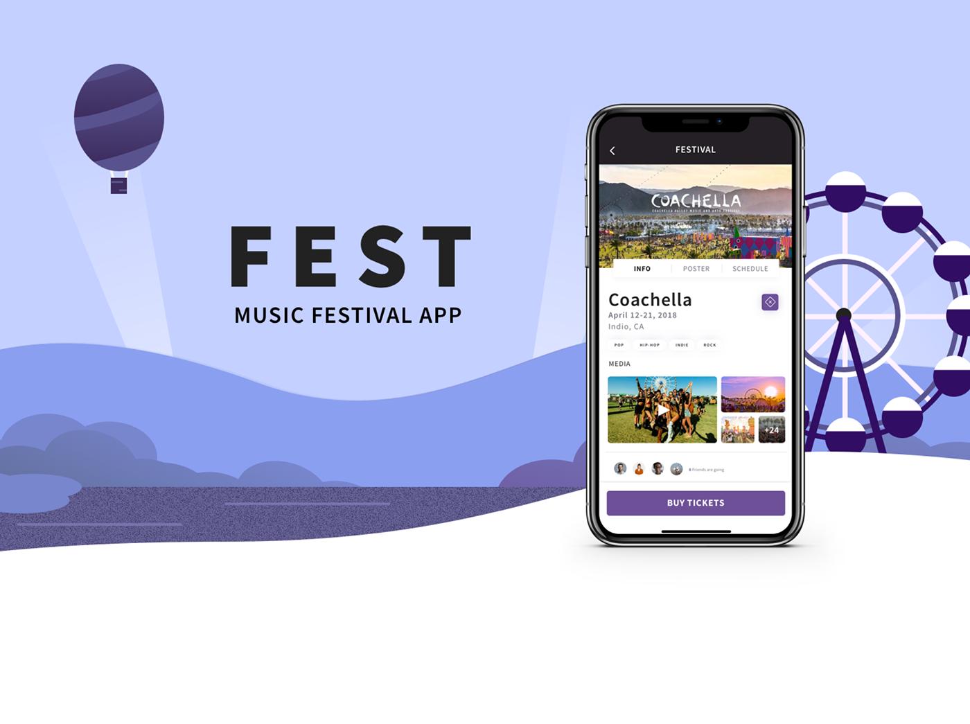 FEST - Music Festival App Case Study on Behance