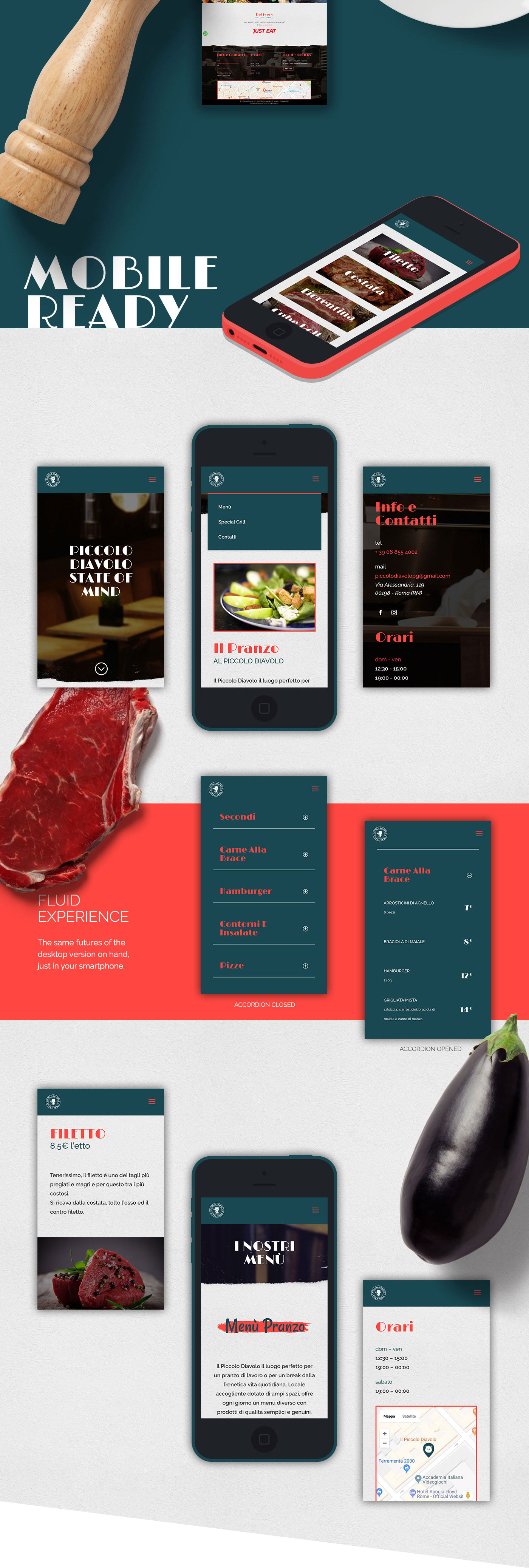 Web Design  design Website blue red css HTML wordpress frontending restaurant