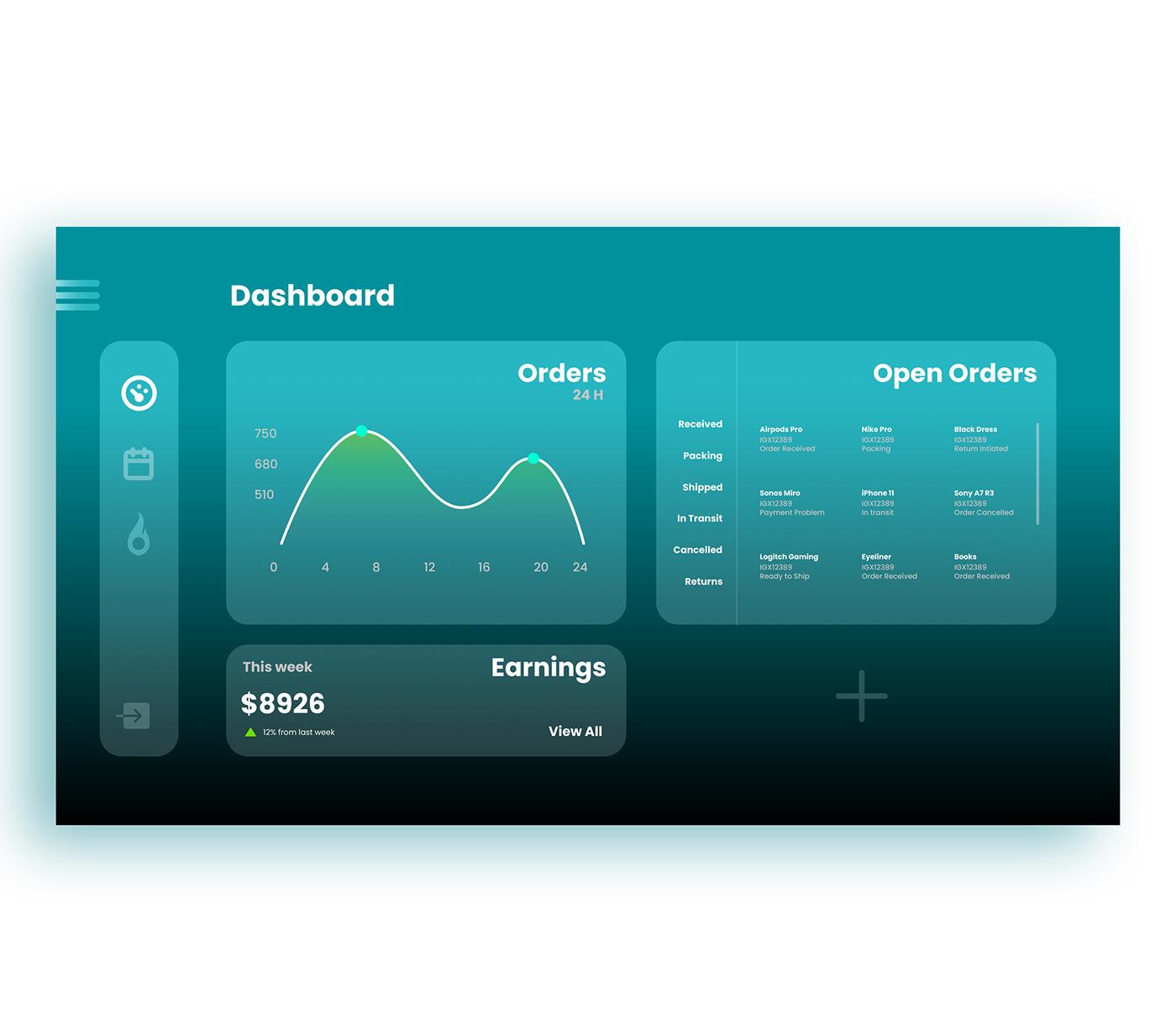 dashboard design UI