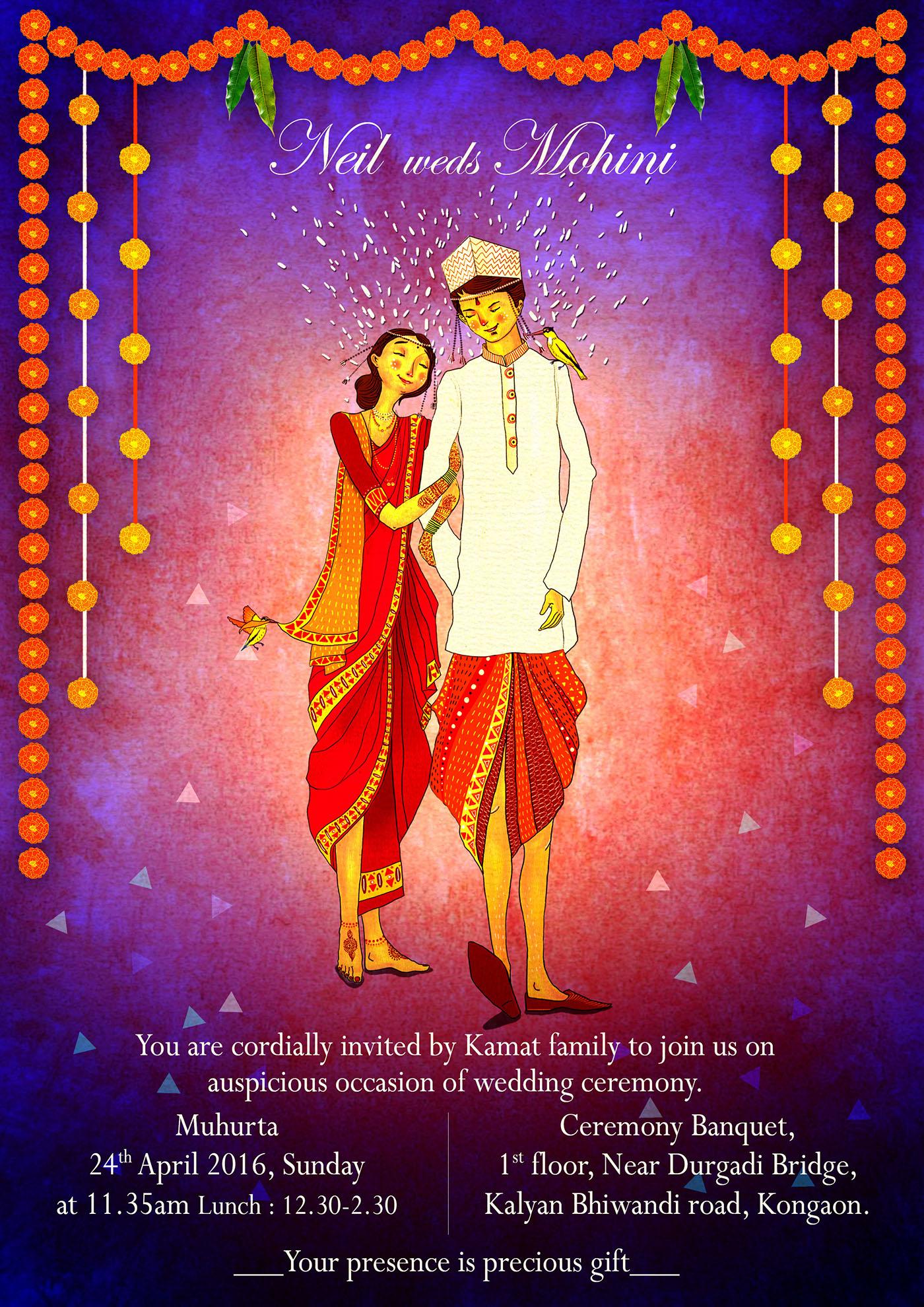 wedding invitation card 1 on behance
