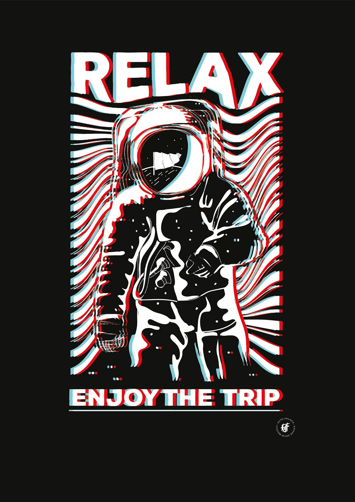 Digital Art  Estampa Estamparia Grime Art Ilustração lettering rock rubber hose vector art vintage