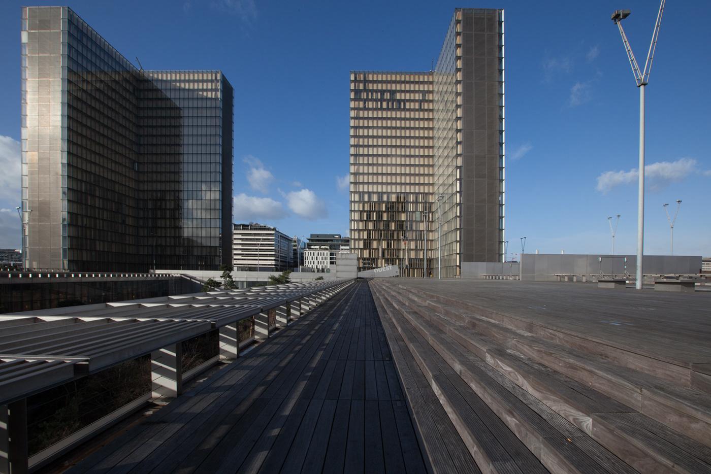 architecture urban landscape Minimalism Paris rive gauche Dominique Perrault library 13 arrondissement Photography