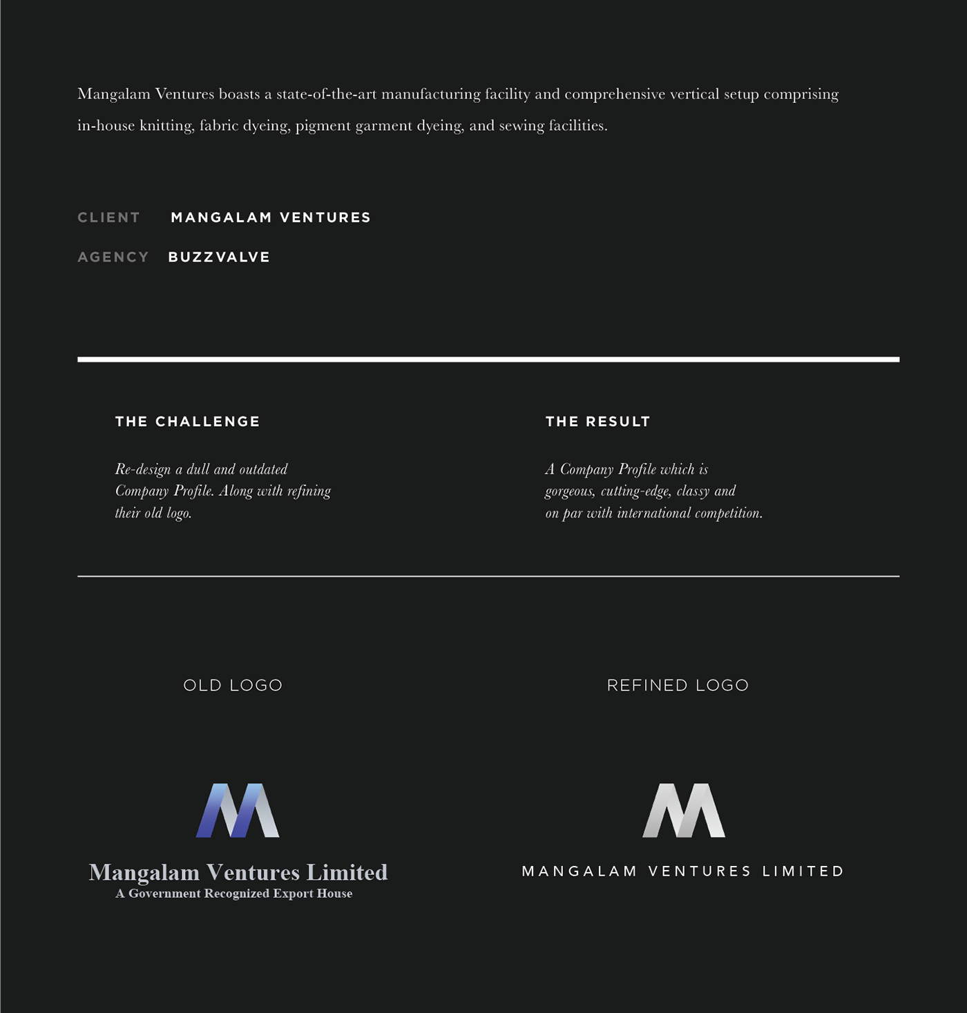Company Profile - Mangalam Ventures on Behance