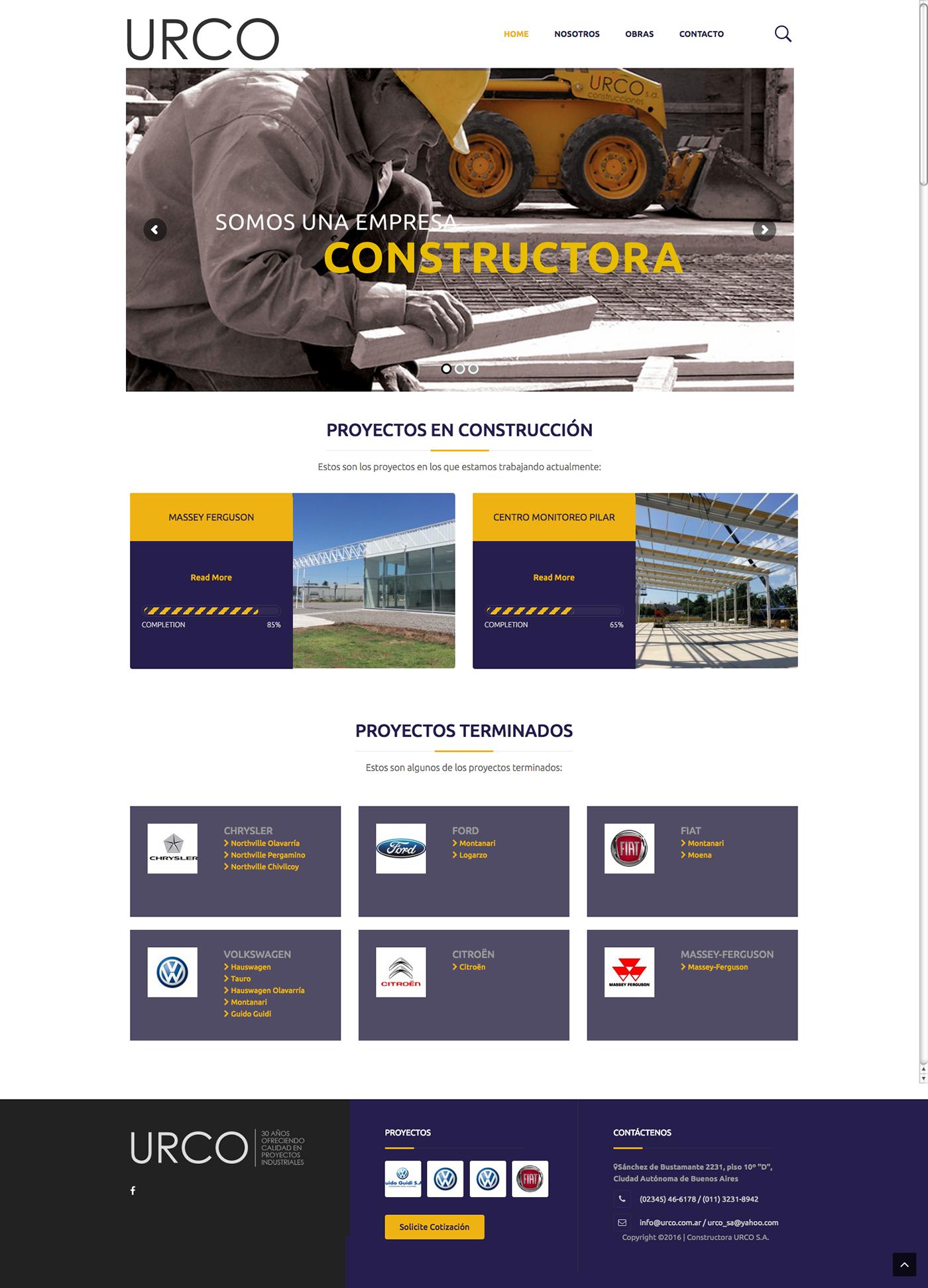 URCO constructora » Nueva web en WordPress