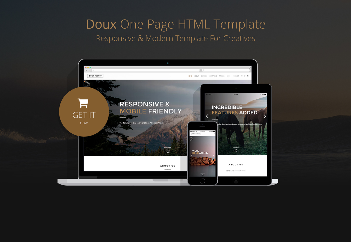 Doux - Creative One Page HTML Template on Behance