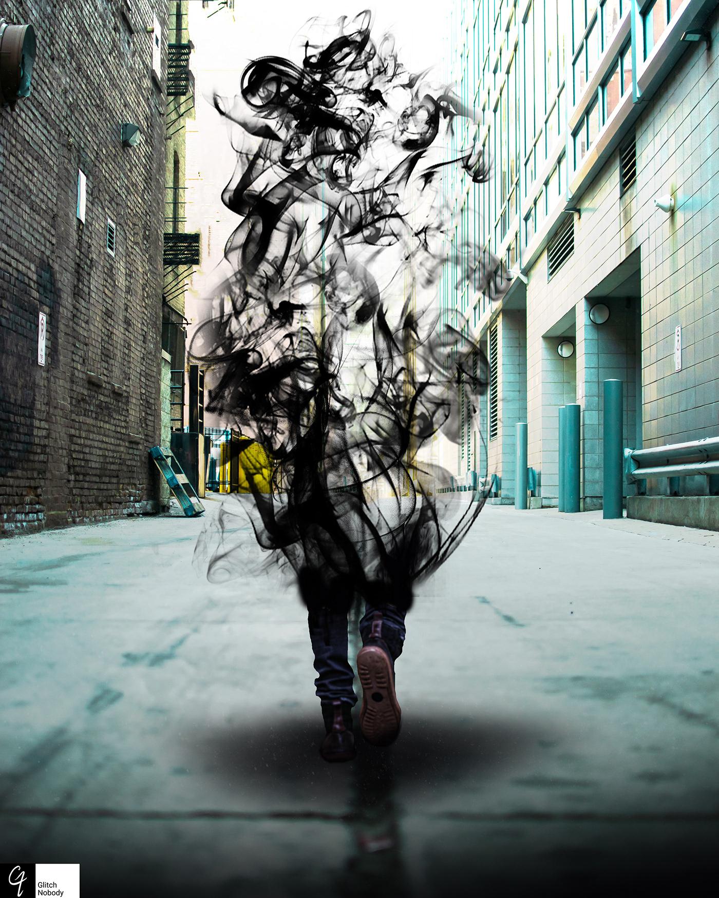 glitchnobody photoshop poster