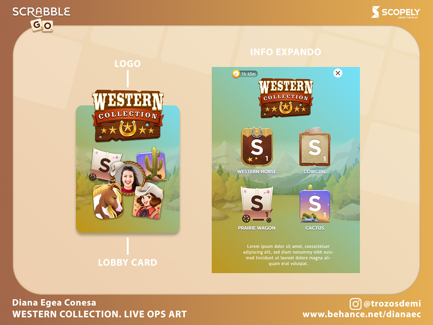 cartoon chest frame live ops mobile game Popup Scopely scrabble go tiles western